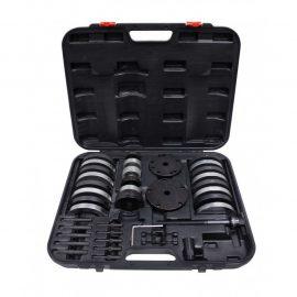 Набор инструментов для ступичных подшипниковVAG(ø62 мм:VWLupo,AudiA2 1.21,ø66мм:VWPolo,Fabia,ø72 мм:VWPolo, Fabia,ø85 мм:VWT5/Touareg/Multivan)в кейсе