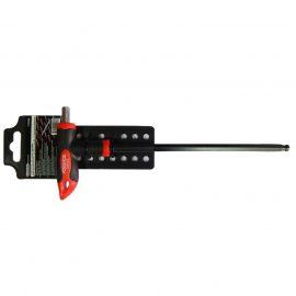 Ключ Т-образный 6-гранный с шаром и прорезиненной рукояткой H2.5×75мм, на пластиковом держателе
