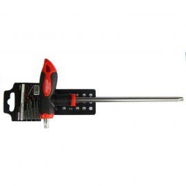 Ключ Т-образный TORX с прорезиненной рукояткой T45х200мм, на пластиковом держателе