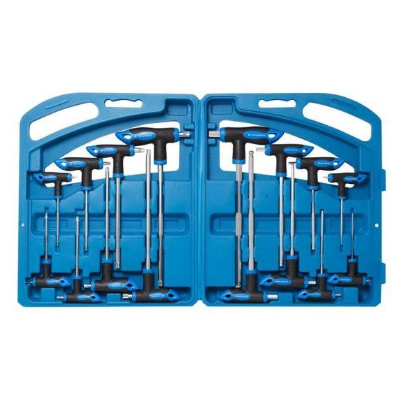 Набор ключей Т-образных TORX/6-гранныхс шаром,16пр.(Н:2,2.5х75, 3,4х100, 5,6х150, 8,10х200мм, Т:10,15х75, 20,25х100, 30,40х150, 45,50х200мм), в кейсе