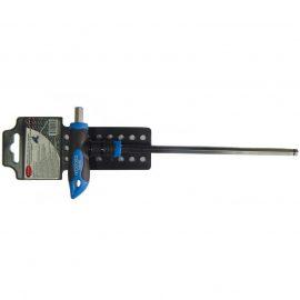 Ключ Т-образный 6-гранный с шаром и прорезиненной рукояткой H3x100мм, на пластиковом держателе