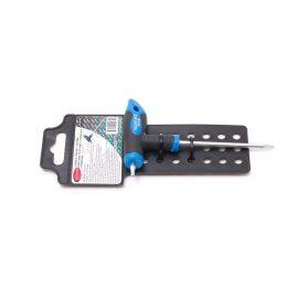 Ключ Т-образный TORX с прорезиненной рукояткой T10х75мм, на пластиковом держателе