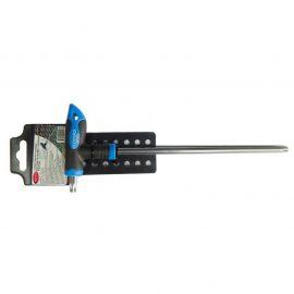 Ключ Т-образный TORX с прорезиненной рукояткой T15х75мм, на пластиковом держателе