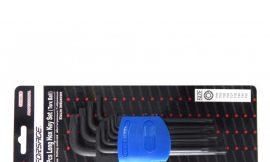 Набор ключей TORX Г-образных длинных с шаром, 9пр. (Т10, Т15, Т20, Т25, Т27, Т30, Т40, Т45, Т50),в пластиковом держателе