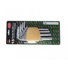 Набор ключей TORX Г-образных длинных с отверстием15пр.(Т6Н,T7H,T8H,T9H,Т10Н,Т15Н,Т20Н,Т25Н,Т27Н, Т30Н,Т40Н,Т45Н,Т50Н,Т55Н,Т60Н)в пластиковом держателе