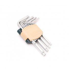 Набор ключей TORX Г-образных с отверстием,15пр.(Т6Н,T7H,T8H,T9H,Т10Н,Т15Н,Т20Н,Т25Н,Т27Н, Т30Н,Т40Н,Т45Н,Т50Н,Т55Н,Т60Н)в пластиковом держателе