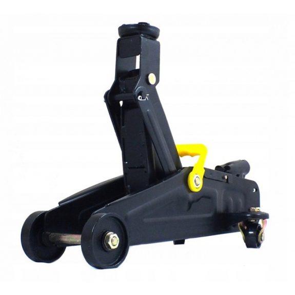 Домкрат подкатной гидравлический с усиленным корпусом »Profi»2т(дополнительные ребра жесткости, h min 135мм.h max 320мм), в кейсе