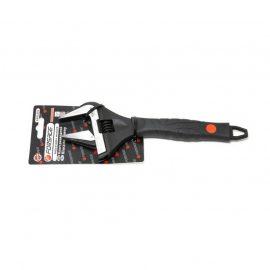 Ключ разводной с прорезиненной рукояткой 10»-250мм(захват 0-50мм, кованная сталь), на блистере