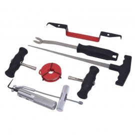 Набор инструментов для демонтажа автомобильных стекол 7пр, в ложементе
