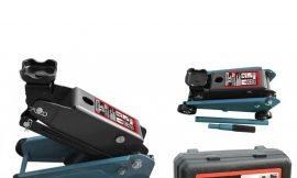Домкрат подкатной гидравлический 2,5т »Компакт»для кроссоверов и микроавтобусов (h min 140мм,h max 395), в кейсе