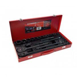Набор инструментов ударных 26пр. 1/2»(6гр.) (8-32мм, Cr-Mo), в металлическом кейсе