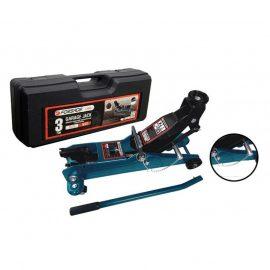 Домкрат подкатной гидравлический 3т ,с фиксацией+резиновая накладка (h min 135мм h max 385мм)в кейсе