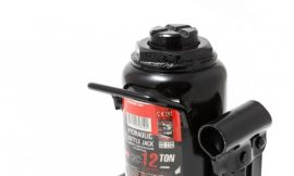 Домкрат бутылочный 12т низкопрофильный с клапаном(h min-170мм, h max-305мм, ход штока-85мм, ход винта-50мм)