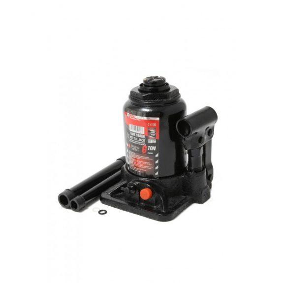 Домкрат бутылочный двухштоковый с клапаном 6т(h min-160мм, h max-390мм, ход штока-170мм, ход винта-60мм)