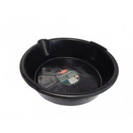 Емкость пластиковая круглая для слива отработанного масла и технических жидкостей 6л