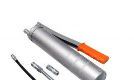 Шприц ручной для нагнетания густой смазки 400мл, в комплекте с жестким и гибким наконечниками