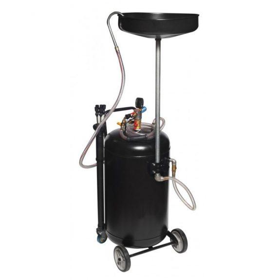 Установка пневматическая для удаления отработанного масла перекатная с индикатором заполнения (бак-80л, воронка-10л,5 щупов,max t-60гр)
