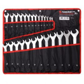 Набор ключей комбинированных с профилем »Super drive»,26пр. (6-30, 32мм), на полотне