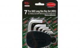 Набор ключей Г-образных 6-гранных длинных, 7пр.(3/32», 1/8», 5/32», 3/16», 1/4», 5/16», 3/8») в пластиковом держателе