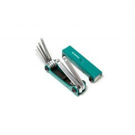 Набор ключей 6-гранных с шаром складной, 7пр.(2.5, 3- 6, 8, 10мм)