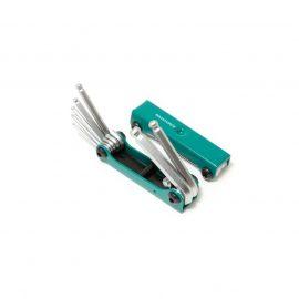 Набор ключей TORX складной, 8пр.(T9, T10, T15, T20, T25, T27, T30, T40 с отверстием)