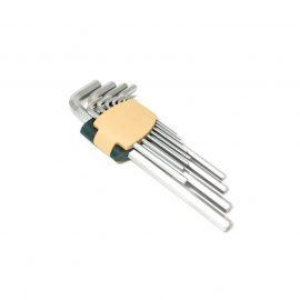 Набор ключей Г-образных 6-гранных экстра длинных 13пр.(2, 2.5, 3-8, 10, 12, 14, 17, 19мм)в пластиковом держателе