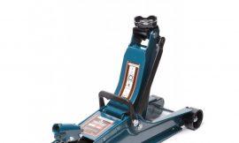 Домкрат подкатной гидравлический 3т низкопрофильный с усиленным корпусом и поворот. ручкой 360°(дополнительные ребра жесткости h min 85мм,h max 387мм)