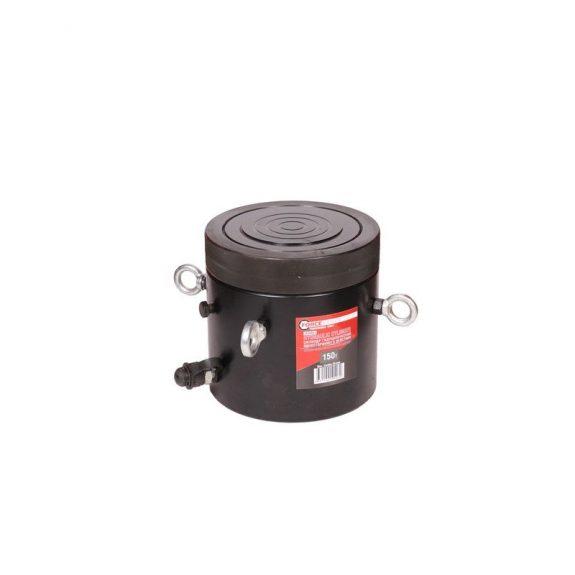 Цилиндр гидравлический с резьбовым штоком и гайкой для механической фиксации 150т (ход штока-150мм, Ø штока-165мм,общий Ø-208мм, L-309мм, 700bar)