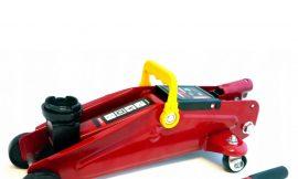 Домкрат подкатной гидравлический с усиленным корпусом »Profi»2т (дополнительные ребра жесткости, h min 135мм, h max 320мм), в кейсе