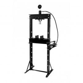 Пресс гидравлический 20т с манометром и выносным насосом (размер:182x70x60см,диапазон работ: 0-115см,ход поршня:14,5см)