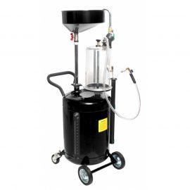Маслоотсос пневматический передвижной с предкамерой,воронкой для слива масла и комплектом щупов ,90л