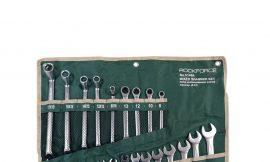 Набор ключей универсальный 24пр,комбинированные 13пр(8-22мм)накидные75гр(8х10-17х19мм)разрезные 2пр(10х12,11х13мм)трещоточные 4 пр(8-13мм) на полотне