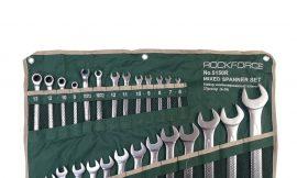 Набор ключей комбинированных универсальный 27пр.(6-36мм),разрезные 2пр(10-12,11-13мм) трещоточные 4пр(8-13мм) на полотне