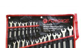 Набор ключей комбинированных универсальный 22пр,.комбинированные 16пр( 6-24мм)разрезные 2пр(10-12,11-13мм).трещоточные 4пр(8-13мм) на полотне