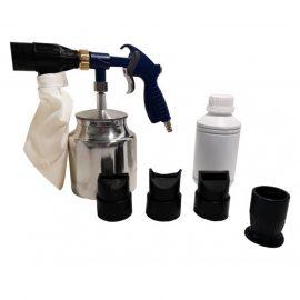 Пистолет пескоструйный пневматический со сменными насадками и песком(бачок-1л,сопло-3.2,давление 6-8bar)