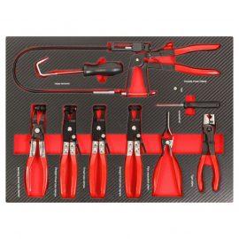 Набор инструментов для снятия/ установки хомутов 9пр,в ложементе