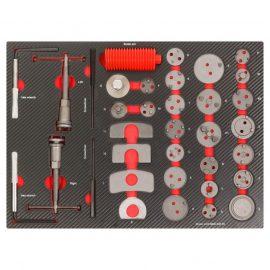 Набор инструментов для обслуживания тормозных суппортов 35пр,в ложементе