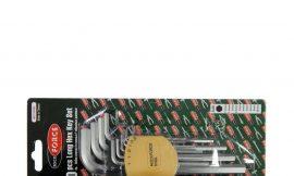 Набор ключей Г-образных 6-гранных длинных, 10пр.(1.27, 1.5, 2, 2.5, 3-6, 8, 10мм) в пластиковом держателе