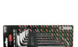 Набор ключей Г-образных 6-гранных длинных 7пр.(2.5, 3-6, 8, 10мм) в пластиковом держателе