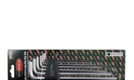 Набор ключей Г-образных 6-гранных экстра длинных 7пр.(2.5, 3-6, 8, 10мм) в пластиковом держателе