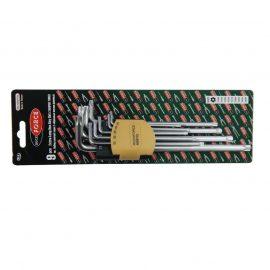 Набор ключей Г-образных TORX экстра длинных, 9пр. (Т10Н, Т15Н, Т20Н, Т25Н,Т27Н, Т30Н, Т40Т, Т45Н,Т50Н с отверстием) в пластиковом держателе