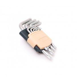 Набор ключей Г-образных TORX 9пр.(Т10, Т15, Т20, Т25, Т27, Т30, Т40, Т45, Т50)в пластиковом держателе