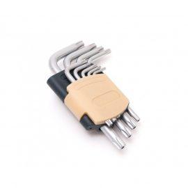 Набор ключей Г-образных TORX 9пр.(Т10Н, Т15Н, Т20Н, Т25Н,Т27Н, Т30Н, Т40Т, Т45Н,Т50Н с отверстием)в пластиковом держателе