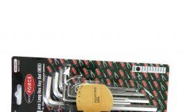 Набор ключей Г-образных 6-гранных длинных 9пр. (1.5, 2, 2.5, 3-6, 8, 10мм) в пластиковом держателе