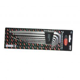 Набор ключей Г-образных 6-гранных экстра длинных с шаром 7пр.(2.5, 3-6, 8, 10мм) в пластиковом держателе