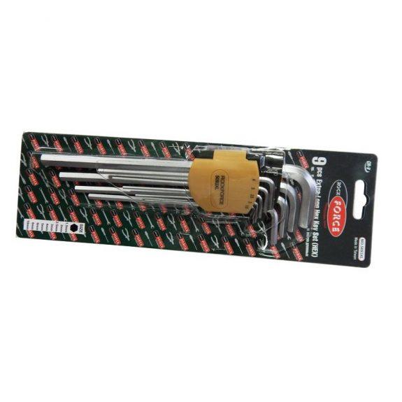 Набор ключей Г-образных 6-гранных экстра длинных, 9пр. (1.5, 2, 2.5, 3-6, 8, 10мм) в пластиковом держателе