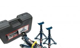Домкрат подкатной 2 т (h min 130мм, h max 330мм) с комплектом аксессуаров