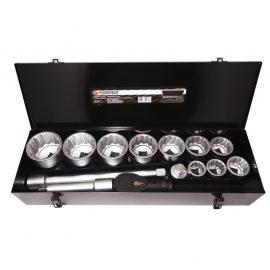 Набор инструментов ударных,15пр. 1»12гр.(36,41,46,50,55,60,65,70,75,80мм),в метал. кейсе