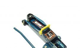 Домкрат подкатной гидравлический 2 т (h min 135мм, h max 385мм) с резиновой накладкой