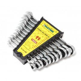Набор ключей комбинированных трещоточных с реверсом 11пр. (8,10,11,12,13,14,15,16,17,18,19мм) в пластиковом держателе